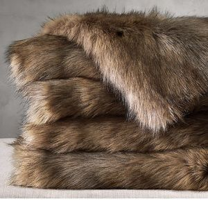Ultimate Faux Fur Throw Restoration Hardware